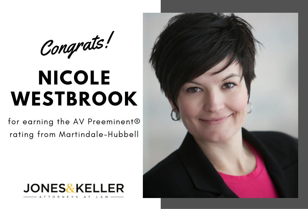 Award announcement, Nicole Westbrook