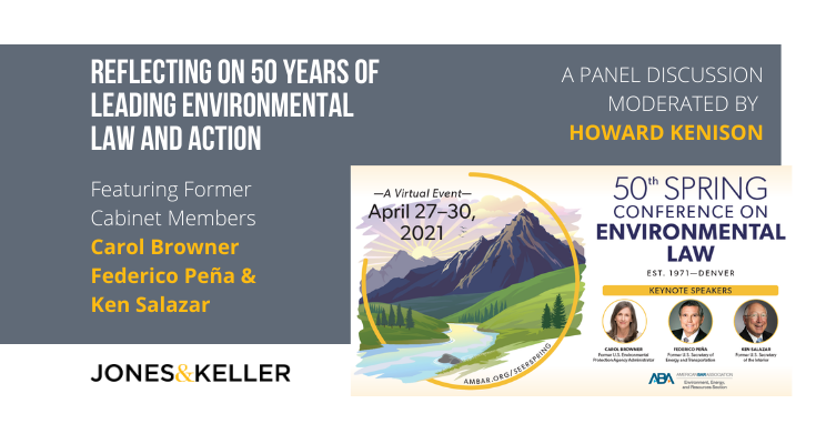 Promotion for the 50th Spring Conference on Environmental Law, 2021
